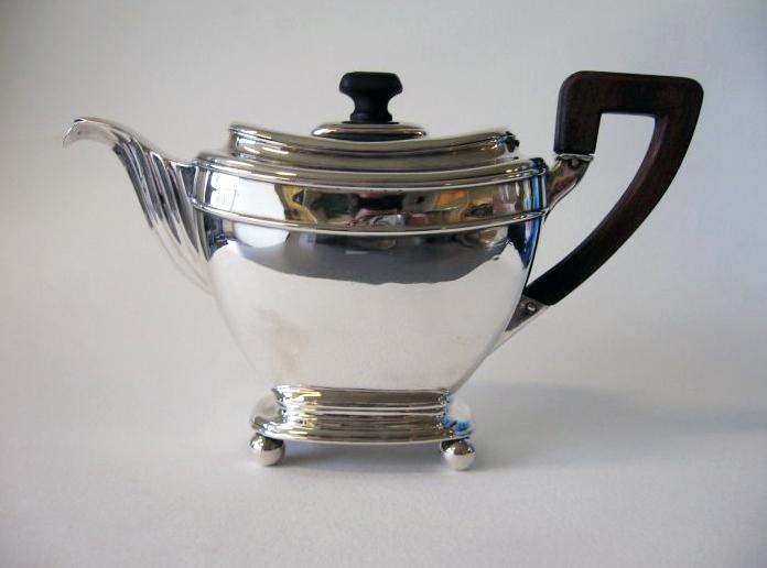 Antique silver coffee pot