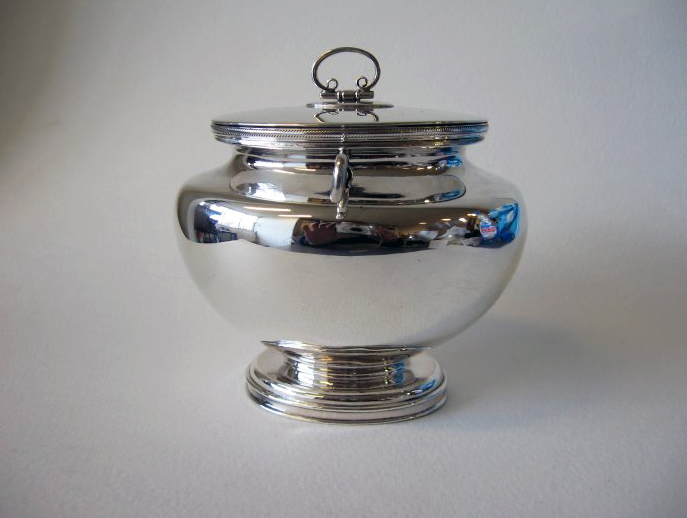 Antique silver pot