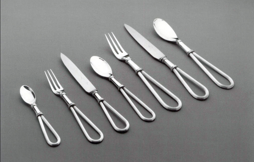 Prize winning silver cutlery set