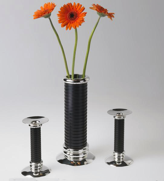Vase and candlesticks