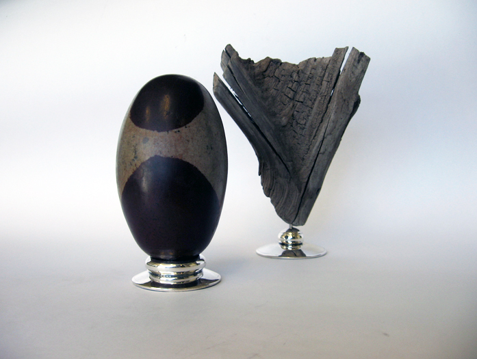 Stone, wood and silver
